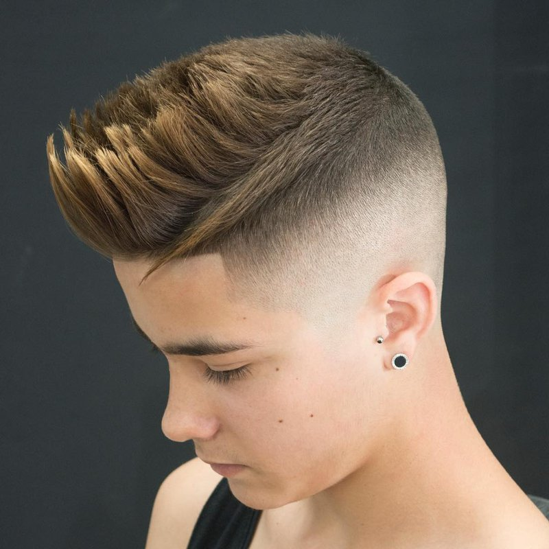 10 - Short hairstyle + Fade