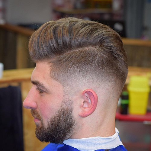 1 - Low Fade Haircut with Long Top