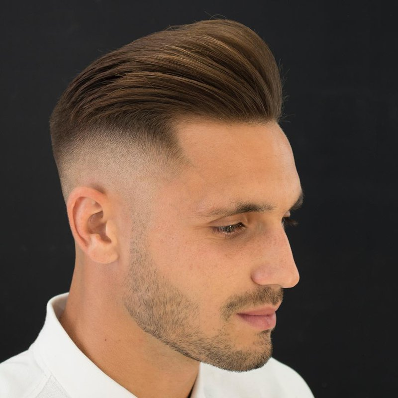 20 - Taper-Fade and Side Part Brush Up