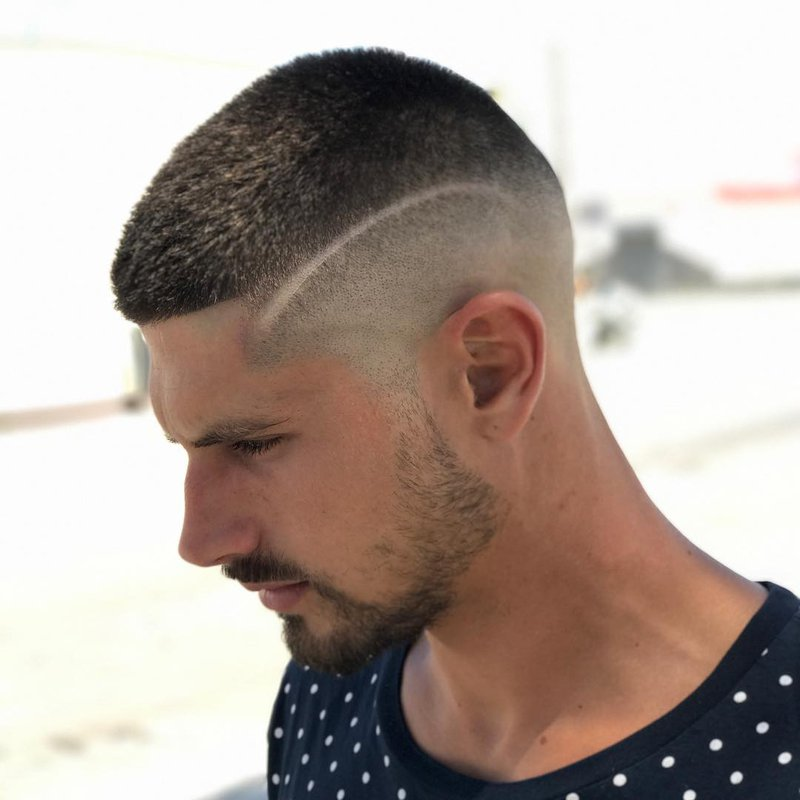 24 - Interrupted Line Up with Skin Fade