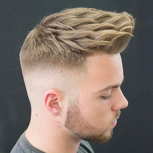 3 - Taper fade haircut with beard.