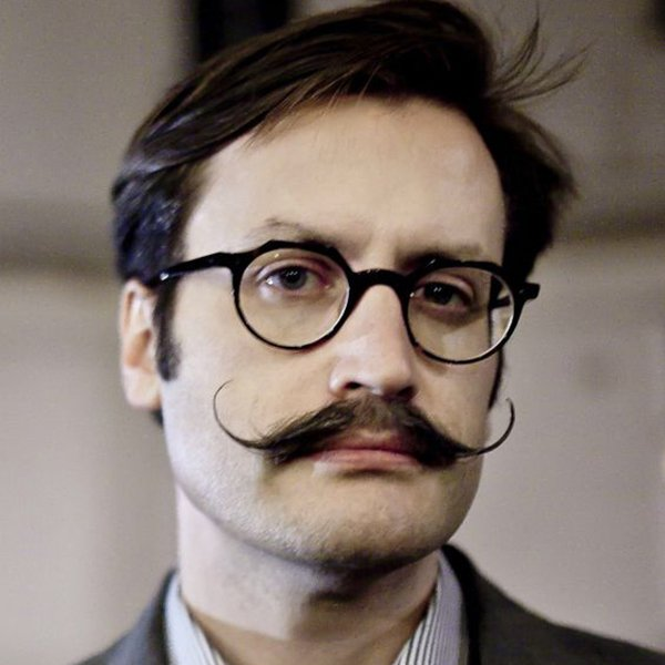 4. Dali style hipster mustache cut