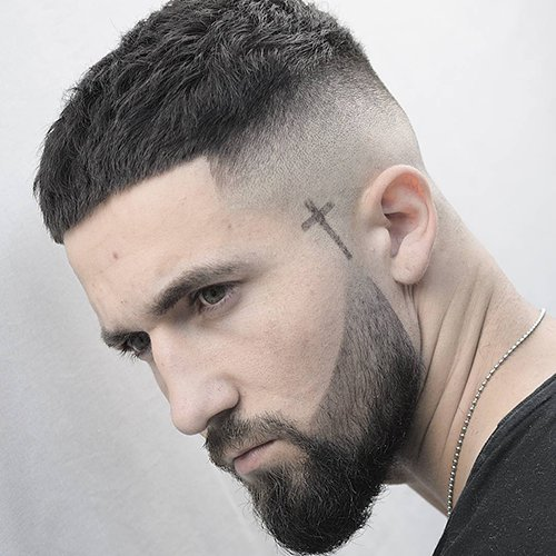 4 - Taper haircut with tapered beard