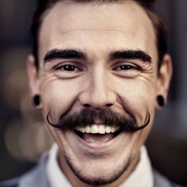 5. Pencil style hipster mustache