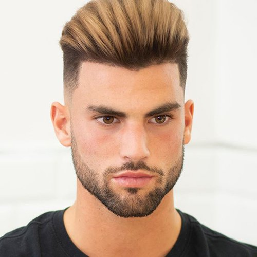 5 - Low fade haircut with short beard