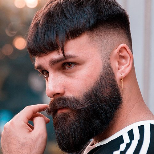 8 - Haircut fade with beard