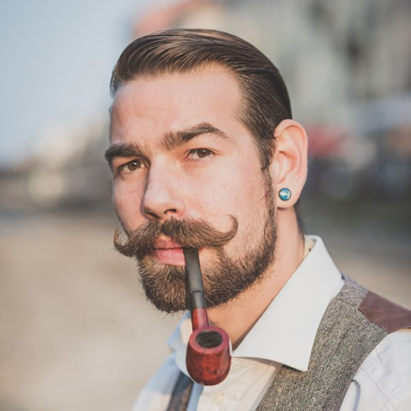 9. Vintage style hipster mustache