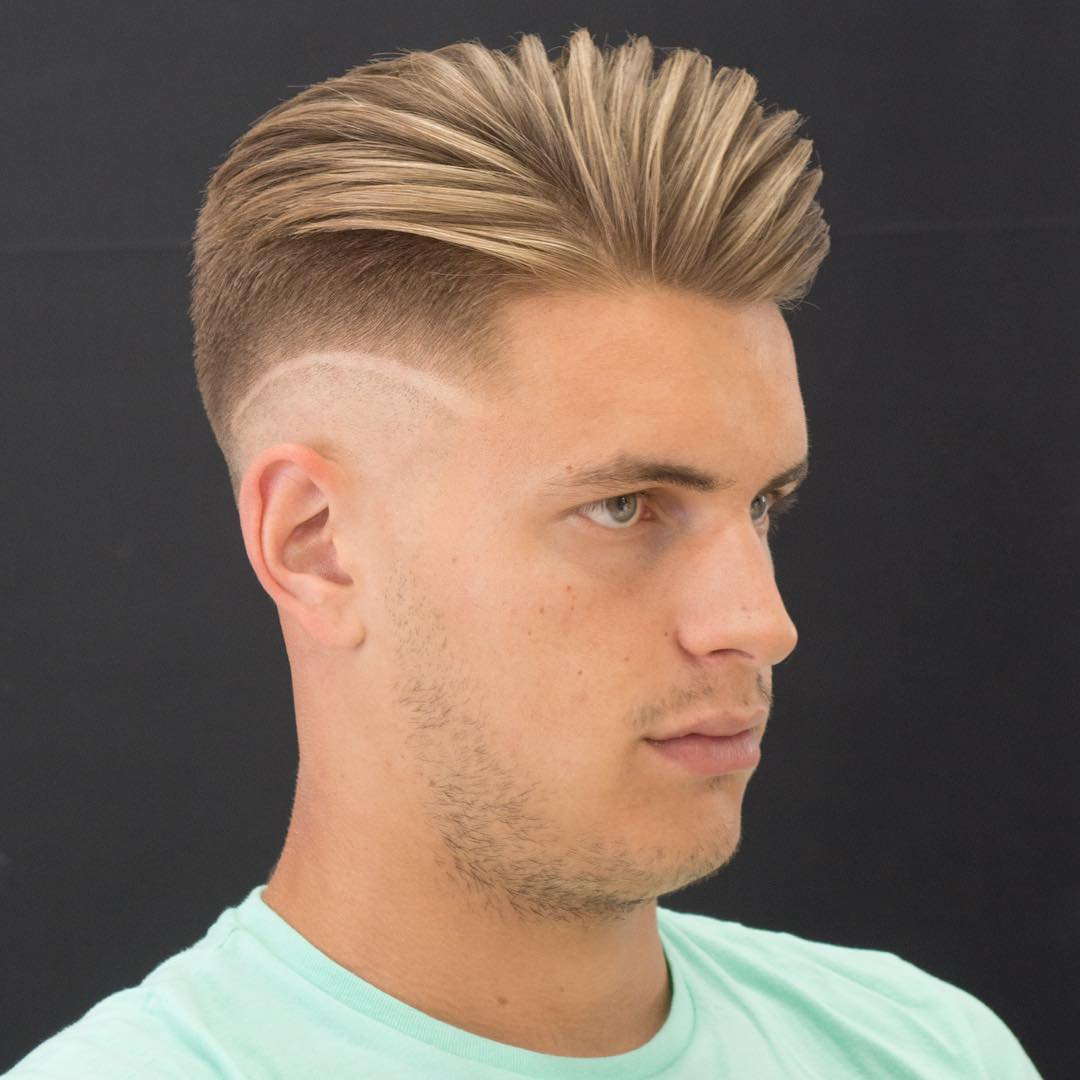 High Fade Comb-Over